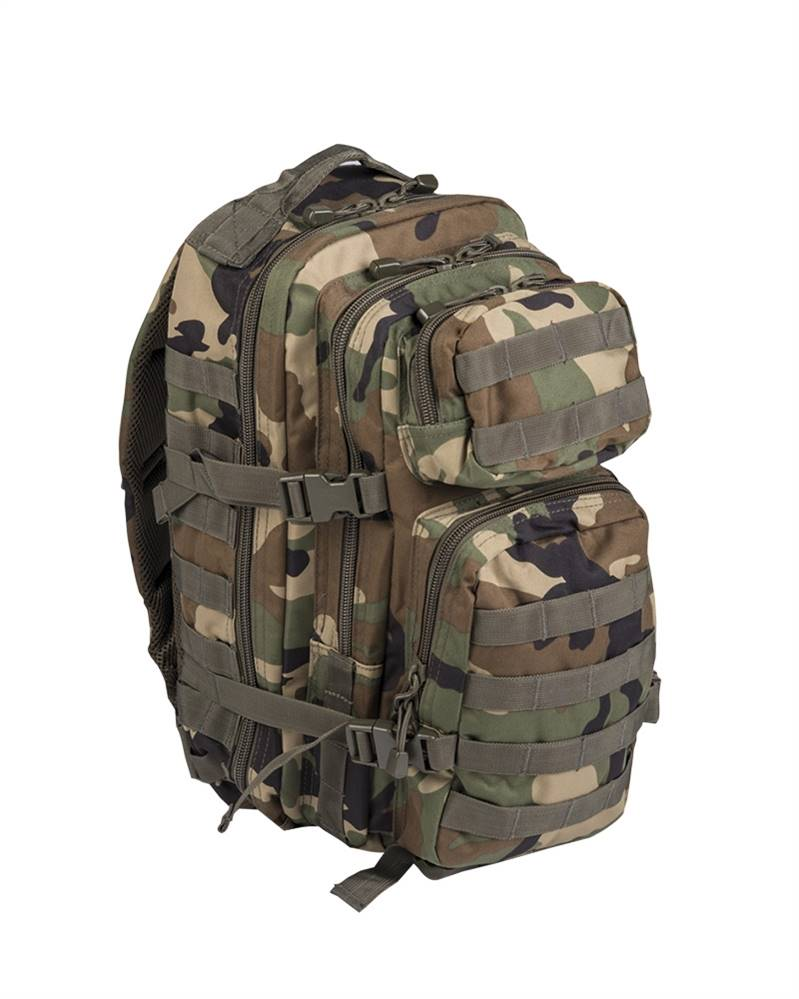 Zaino Miltec Assault small, mimetico Woodland