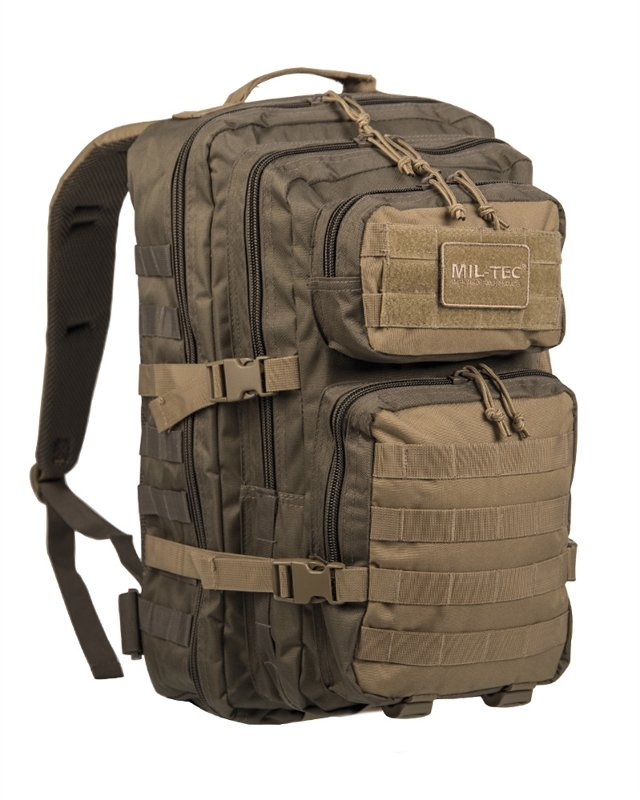 Zaino Miltec Assault large, verde/coyote