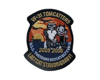 Patch americana in tessuto VF-31 TOMMCATTERS rotonda