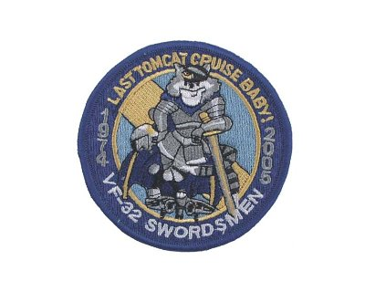 Patch americana in tessuto VF-32 SWORDSMAN rotonda