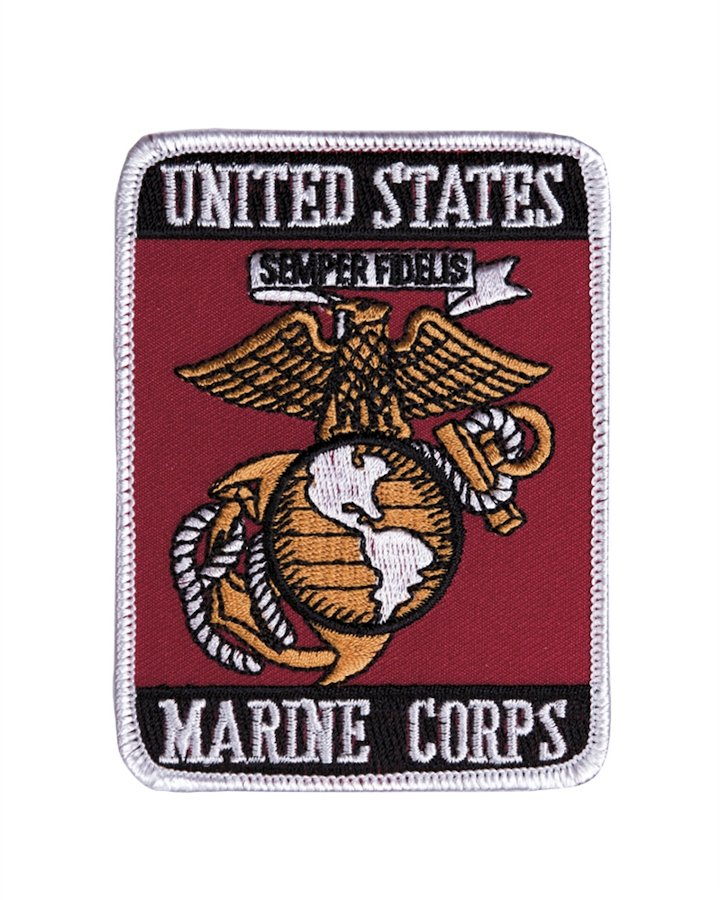 "Patch americana ""MARINE CORPS"" in tessuto"