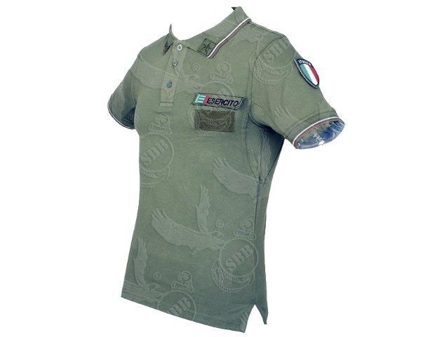 Polo Esercito Italiano oliva con patch