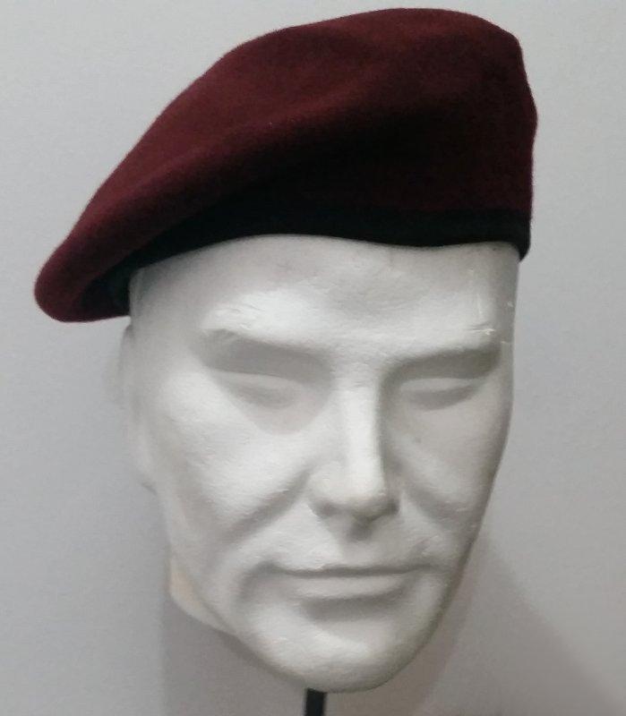 Basco Militare Boina amaranto bordo in tessuto Mario Legionario ... 683d8919034c